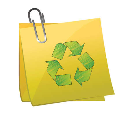 environmental awareness: Recycle Sign, isolated on white background illustration design