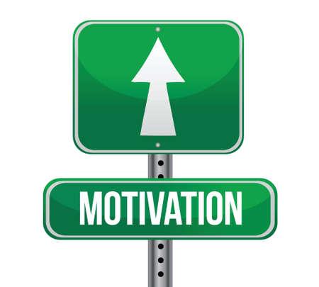 persuasion: motivation green sign illustration design over white