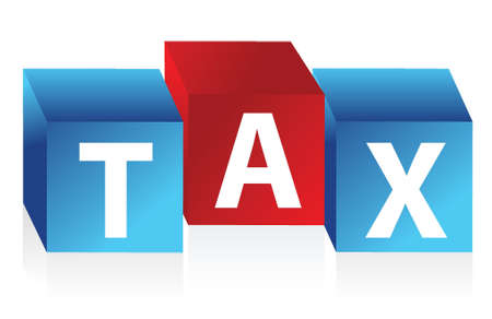 tax cubes illustration design over a white background