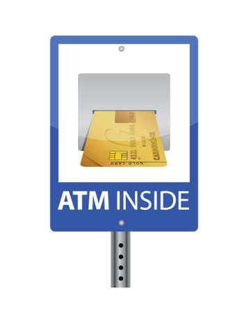 ATM sign illustration design over a white background Stock Vector - 16819913