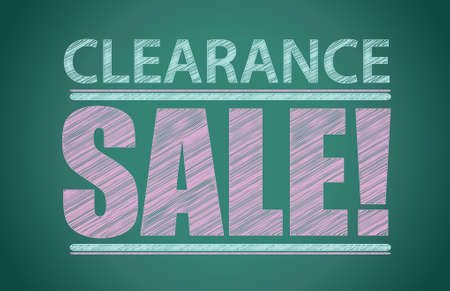 clearance sale: Clearance sale words written on the chalkboard illustration design