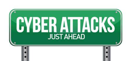 技術コンセプト イラスト デザインとしてのサイバー攻撃