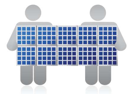 Panneau solaire compétition conception d'illustration sur un fond blanc Banque d'images - 16819908