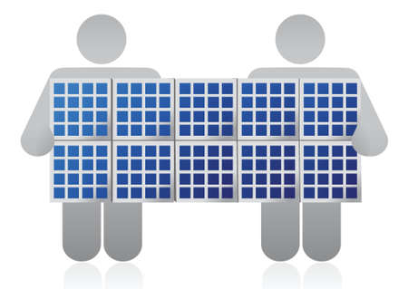 solarcell: solar panel competition illustration design over a white background Illustration