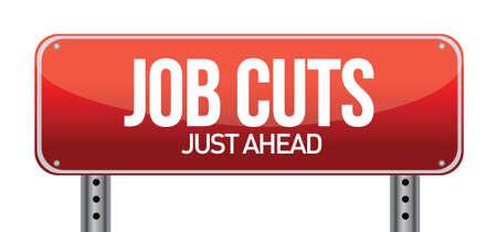 downsizing: Job cuts illustration design over a white background Illustration