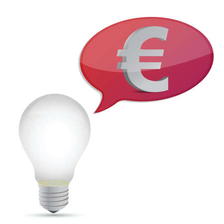 euro energy saving bulb illustration design over white Stock Vector - 16819972