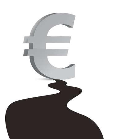 euro Oil industry  Big oil droplet illustration design Stock Vector - 16819889