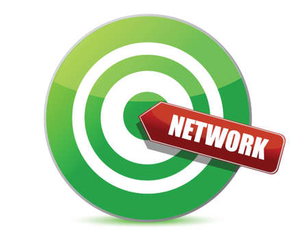 Network target illustration design over a white background Stock Vector - 16819892