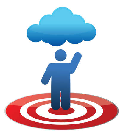 Cloud computing concept illustration design over a white background Stock Vector - 16819904