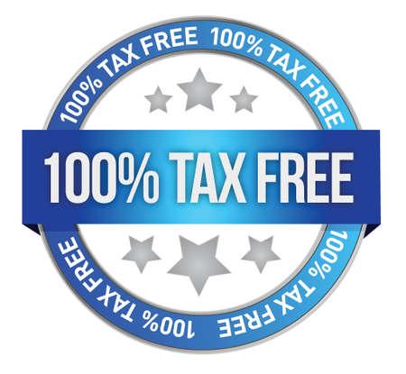 Tax free icon illustration design over a white background Illustration