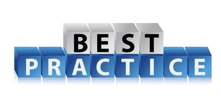 Best practice illustration design over a white background Stock Vector - 16846092