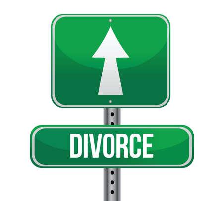 famille malheureuse: design illustration divorce signe sur un fond blanc