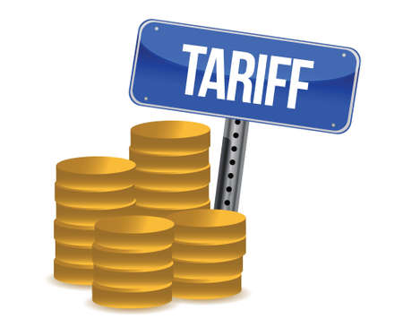 tariff: tariff concept illustration design over a white background