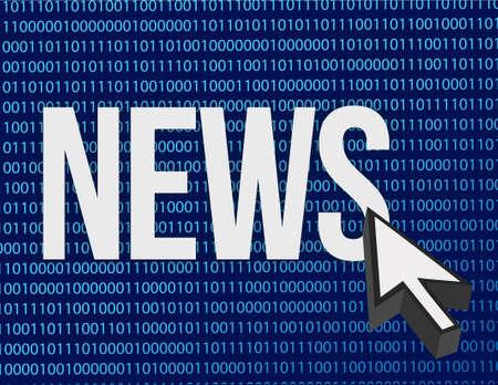 news written illustration design over a binary background design Stock Illustration - 16846187