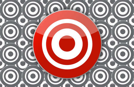 main target illustration design over targets in the background Stock Illustration - 16846090