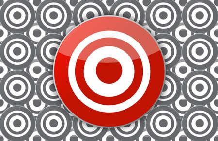 main target illustration design over targets in the background Stock Illustration - 16846090