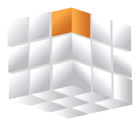 3d cube isolated on a white illustration design over white Stock Vector - 16936417