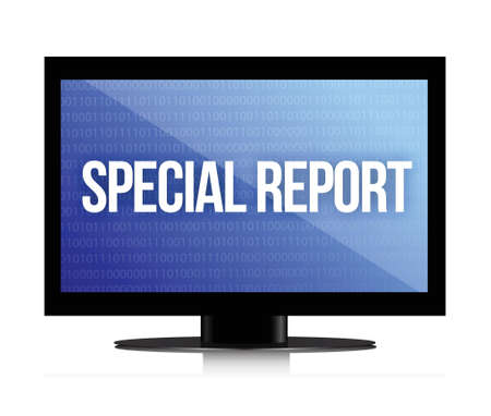 echnology: special report monitor illustration design over a white background