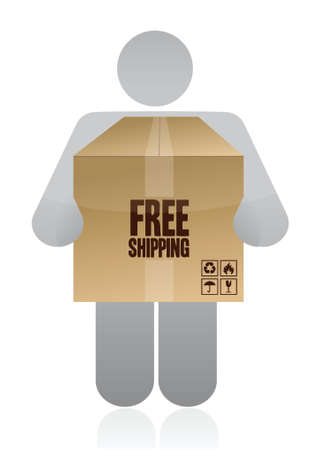 Free Delivery Concept illustration design over a white background
