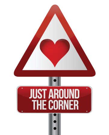 Conceptual road sign on love illustration design Reklamní fotografie - 16936426