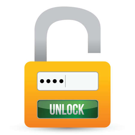 ideally: Security system of the lock illustration design over white
