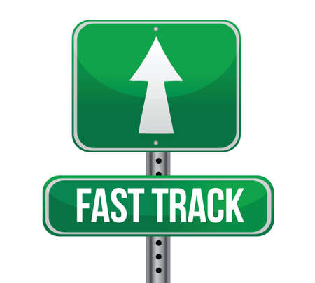 fast service: roadsign with a fast track concept illustration design