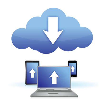 cloud electronic connection concept illustration design over white Stock Vector - 16945387