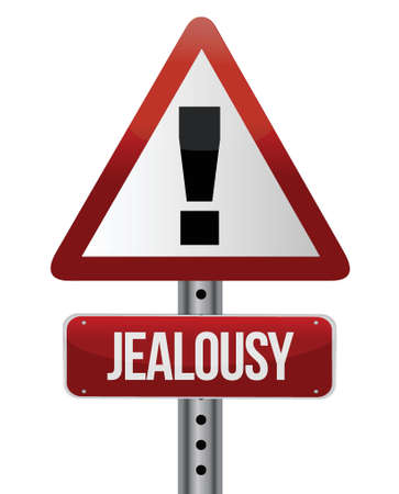 warning sign with a jealousy concept illustration design Stock Vector - 16945372