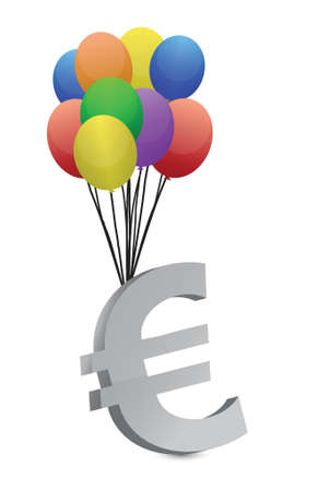 tax policy: euro flying away illustration design over a white background Illustration