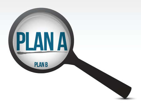 glas 3d: selecting one plan over another one illustration design Illustration