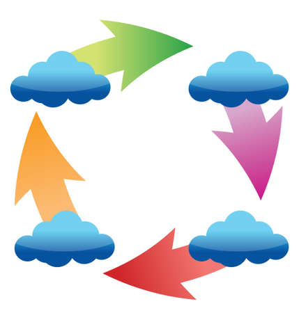 syncing: Cloud Sync Services Icon illustration design over a white background