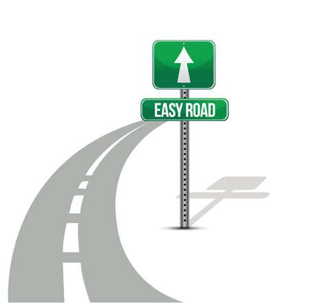 solvency: Easy Street road illustration design over a white background Illustration
