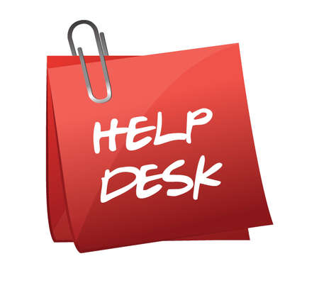 Help desk note illustration design over a white background Illustration