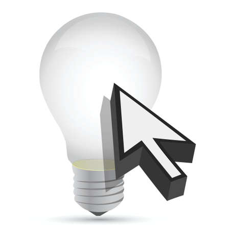 illustration of idea bulb design over a white background