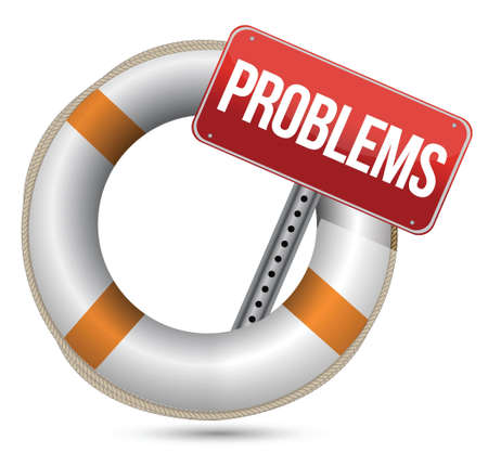 Problems Help Concept  Illustration design over a white background Stock Vector - 16960325