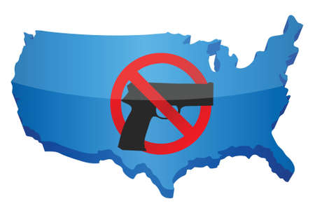 gun control us concept illustration design over white