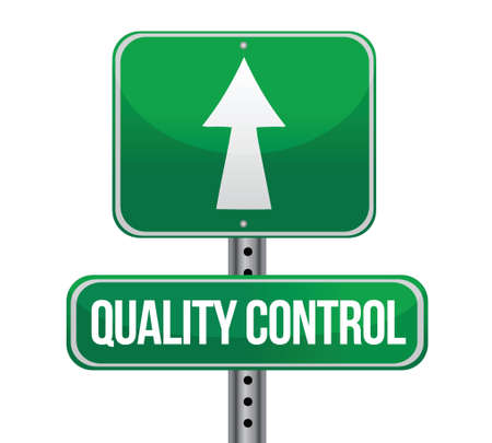 certify: road traffic sign with a quality control concept illustration design