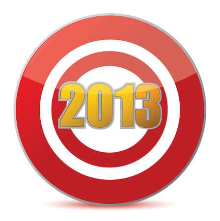 hitting target - New Year 2013 illustration design over white Stock Vector - 17013808