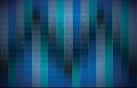 Binary code dark blue illustration design background Vector
