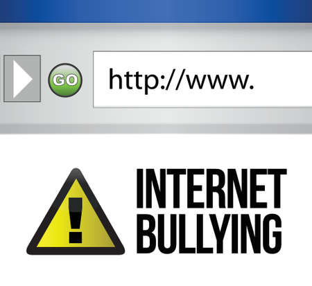 browser with an internet bullying concept illustration design