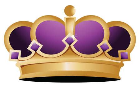 corona reina: corona diseño ilustración sobre un fondo blanco