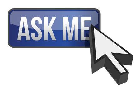 navigating: ask me button illustration design over a white background