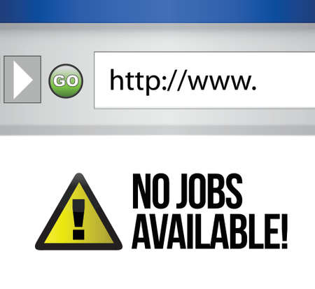 no jobs available illustration design on a computer browser Vector
