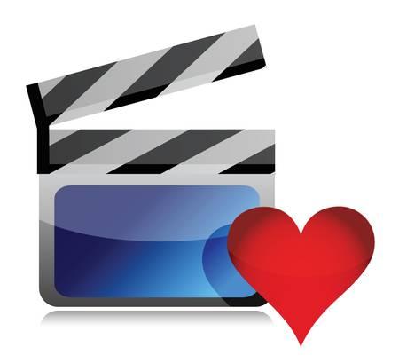 Favorite movie icon illustration design over a white background Stock Vector - 17032348