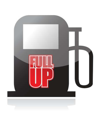 biodiesel: pump and the words Fuel Up on its front illustration design over white