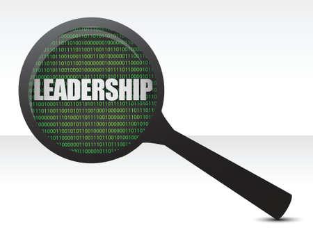 Leadership under review concept illustration design over white