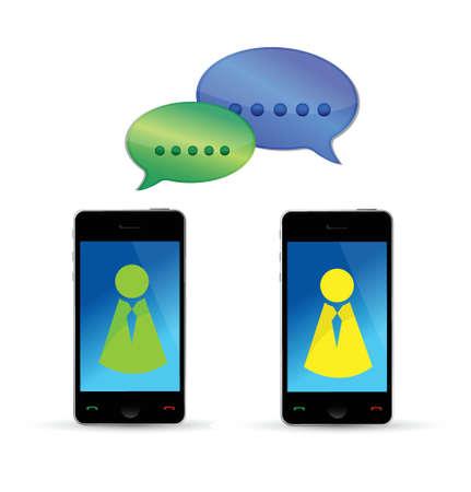 modern mobile phones communication concept illustration design over white Stock Vector - 17032328