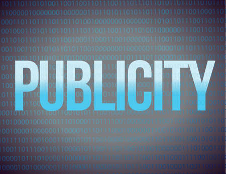 Publicity on a binary illustration design background Vector