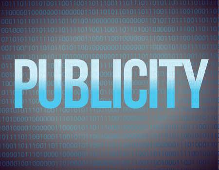 publicity: Publicity on a binary illustration design background