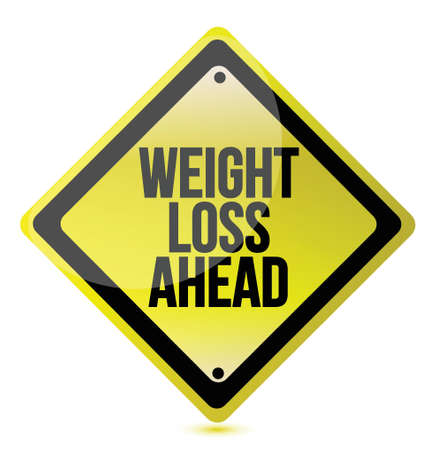 new years resolution: Weight loss concept illustration design over a white background Illustration